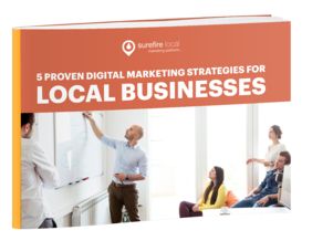 Surefire Local eBook cover - 5 Proven Digital Marketing Strategies for Local Businesses