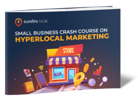 eBook cover - Small Business Crash Course on Hyperlocal Marketing