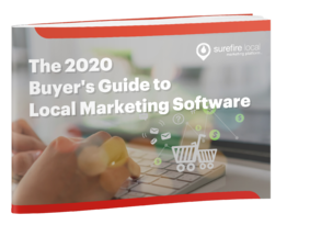 Surefire Local eBook cover - The 2020 Buyers Guide to Local Marketing Software